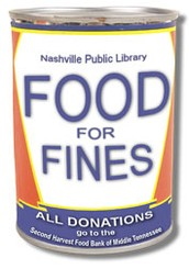 Nashville Public Library / Limitless Libraries Food for Fines