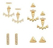 PAVE TRIANGLE EAR JACKET - GOLD $22 (55% off)