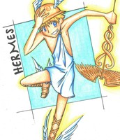 Hermes and his famous Sandals