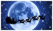 Santa flying sleigh