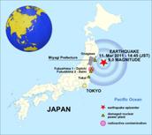 The earthquke map