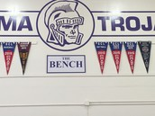 Recent banners now in the gym!