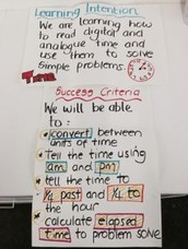 Learning Goals  and Success Criteria