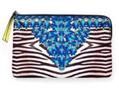 Capri Pouch Jeweled Zebra $15