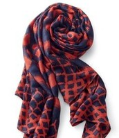 Union Square Navy and Red Scarf