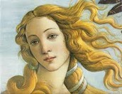 This is a painting of Venus (the Roman Goddess.)