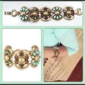 Becca bracelet (mint) $40