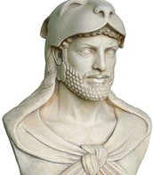 Hercules wearing the lions skin
