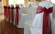Spandex/Satin Chair covers with Sash