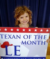 Kinder Texan of the Month