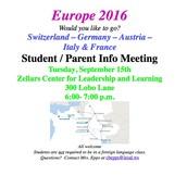 LEHS EUROPE TRIP 2016