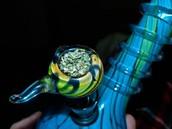 Marijuana in a bong