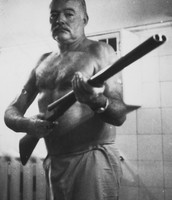 Hemingway and his shotgun