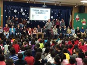 Our Panthers saying thank you to CDK Global for donating $13,000 for new books!