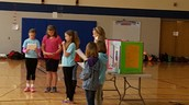 The 5th grade girls sharing at the assembly