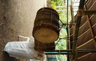 Locally made traditional drums