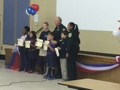 New inductees into the Safety Patrol