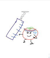 tomato punching a punch bag