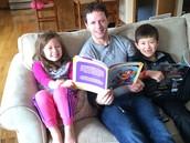 Mr. Johnson, Hadley and Parker reading a fun book!