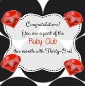 Ruby Club $500-999!