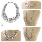 SUTTON NECKLACE - SILVER $57 (55% OFF)