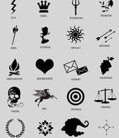the symbols of the Greek god and goddesses