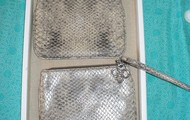 Soho Snakeskin Wristlet