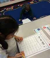 We worked very hard in math centers on learning our Addition facts!