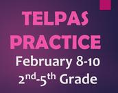 TELPAS Online Practice Schedule