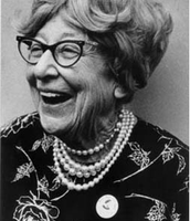 Most recent picture of Jeanette Rankin, 1971.