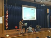 My awesome wife reads at W.A.R.P. Wednesday Assembly!