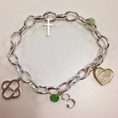 Silver Charm Bracelet Plus Charms