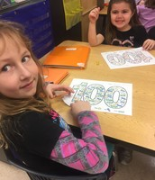 Coloring 100 objects for our morning work!