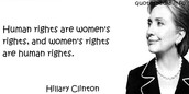 Famous people fighting for woman's right's in America or World today
