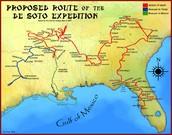 Hernando de Soto Expediton Route