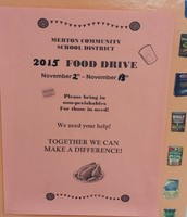 Our annual food drive starts Monday, November 2nd!
