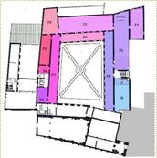 La pianta del primo piano del museo