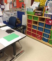 Visiting Kinder rooms across the district to see how they use their shared space in between rooms