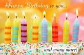 Happy Birthday to you ♪♫•*¨*•.¸¸♥ ¸¸.•*¨*•♫♪ Happy Birthday to you ♪♫•*¨*•.¸¸♥