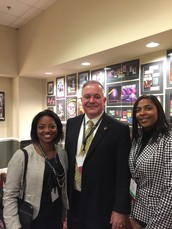 Ms. Henfield & Ms. Cross had the honor of escorting State Superintendent Woods backstage to kickoff the Georgia Family Engagement Conference!