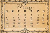 2. In any given year, no month ever begins or ends on the same day of the week as May does.