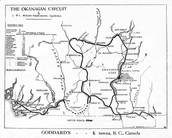 Map of Okanagan valley