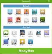 Moby Max screen after logging in