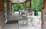 Outdoor seating for mess hall