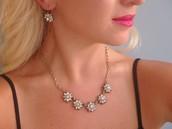 #6 - Mirabelle Drop Earrings & Necklace