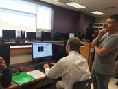 Mr. Bennett's PLTW Students Working on Coding
