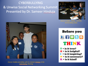 No Place for Hate THINK presentation to all students during cybersmart unit