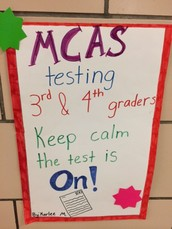 MCAS testing appreciation & final ELA sessions