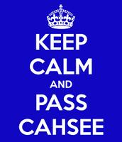CAHSEE Agenda