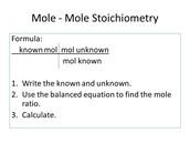 Mole to Mole Conversion
